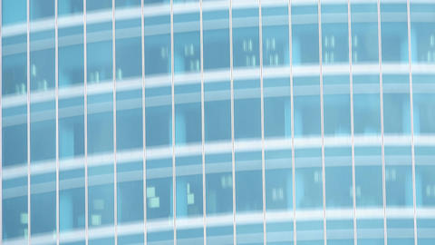 Vertical tilt telephoto shot of office skyscraper details Footage