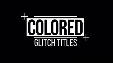 Colored Glitch Titles Premiere Proテンプレート