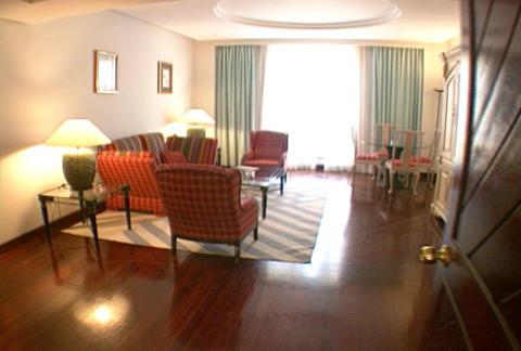 Hotel suite living room Footage