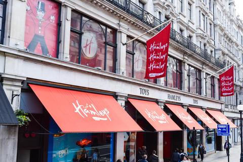 LONDON, UK - APRIL 10, 2016: the famous Hamley's toy store Fotografía