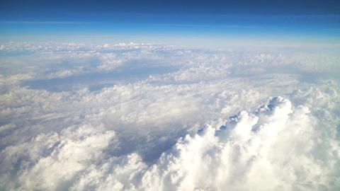 Flying Above Beautiful Earth Clouds And Blue Sky Footage