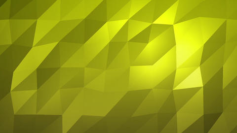 Yellow Low Poly Abstract Background. Seamlessly Loopable, Stock Animation