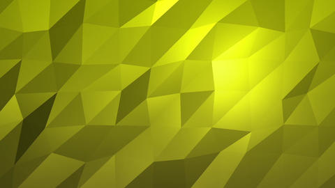 Yellow Low Poly Abstract Background. Seamlessly Loopable Animation