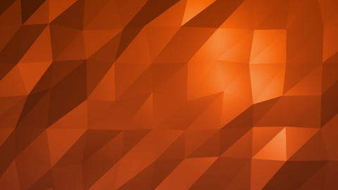 Orange Low Poly Abstract Background. Seamlessly Loopable Animation