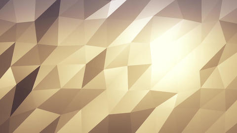 Gold Low Poly Abstract Background. Seamlessly Loopable Animation