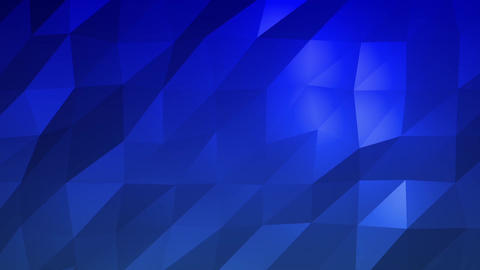 Blue Low Poly Abstract Background. Seamlessly Loopable Animation