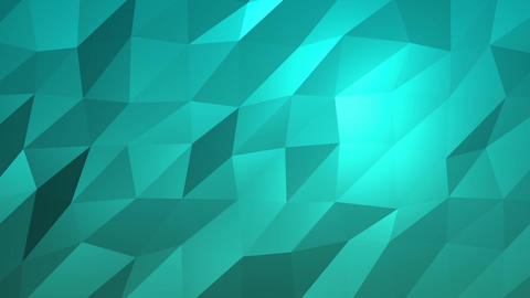 Aqua Low Poly Abstract Background. Seamlessly Loopable Animation