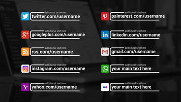 Social Promotion Titles After Effects Templates