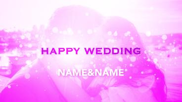 Happy Wedding TITLE After Effects Template