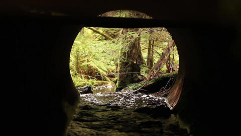 Stream in the pipe Footage