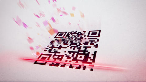 QR code scanner uses lazer and analyses info Animation