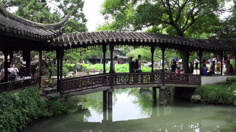 Humble Administrator s Garden In Suzhou China Unesco World Heritage Site Footage