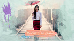 Watercolor and Ink Slideshow Premiere Proテンプレート
