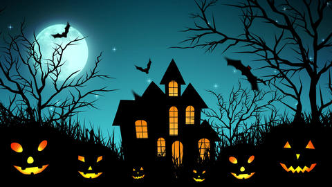 Halloween Castle in the Woods in Cyan Animation