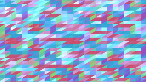 Colorful Geometric Polygonal Pixelated Video Animation Stock Video Footage