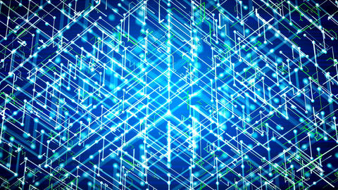 Free Footage - Futuristic abstract cyber background. Loopable Animation