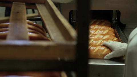 Machine for cutting bread Footage