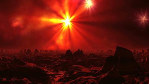 Surrealistic Landscape of Alien Planet Animación