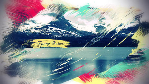 Colorful Brush Strokes After Effects Template