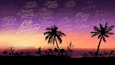 Tropical Sunset Logo Opener After Effects Template