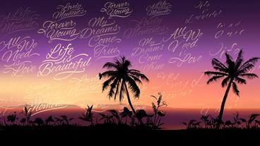Tropical Sunset Logo Opener Plantilla de After Effects
