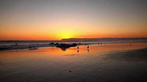 Video of sunset in real slow motion Filmmaterial