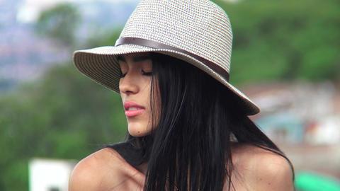Sad Unhappy Hispanic Teen Girl Footage