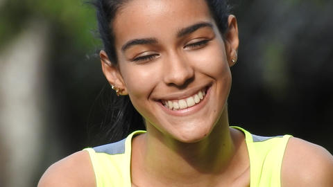 Happy Smiling Teen Christian Girl Footage