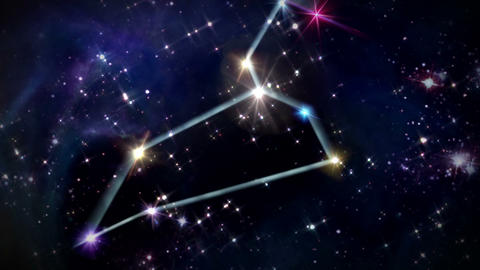 05 Leo Horoscopes space track in Animation