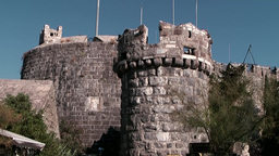 Turkey the Aegean Sea Bodrum 020 knight castle with watch tower Footage
