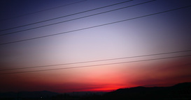 Beautiful color behind of the wire at time lapse Footage