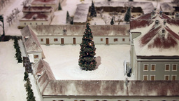 Flickering Christmas Tree stock footage