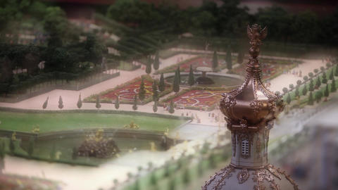 Royal Park With Fountains stock footage