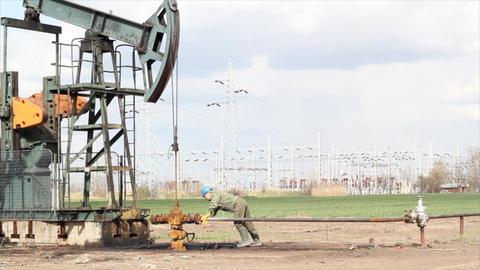 Industry Oil Field stock footage