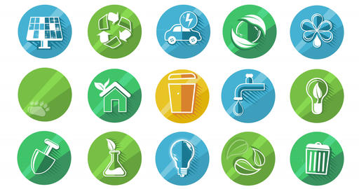 Ecology Concept Icon Set Animation
