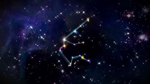 11 Aquarius Horoscopes space rotation Animation