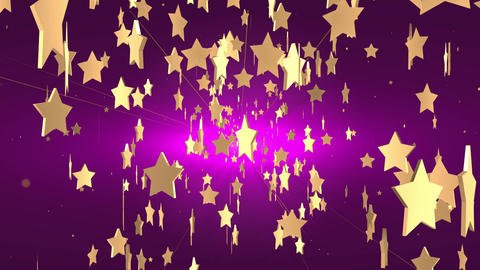 Star Rain On Dark Purple Background CG動画素材
