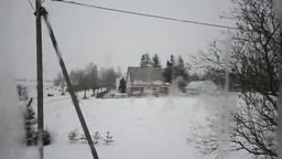 Snowstorm View from indoor through the Window Footage