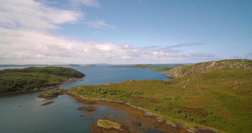 Aerial, Lots Of Scottish Lakes, West Scotland - Graded Version Footage