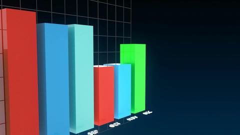 4k financial infographics animation Animación