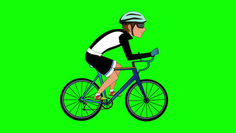 Ciclista CG動画素材