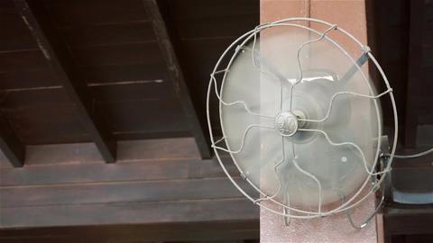 Antique wall fan in room Filmmaterial