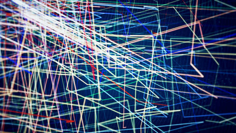 Abstract Loopable CGI motion graphics with multicolor lines Animation
