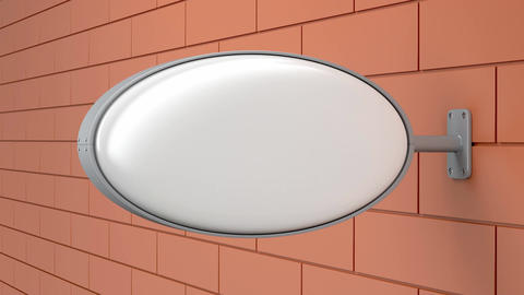 Blank oval signboard Image