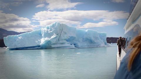 Iceberg Drifting Footage