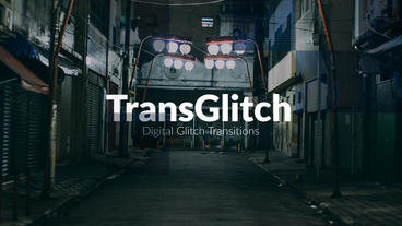 TransGlitch - Digital Glitch Transitions Premiere Proテンプレート