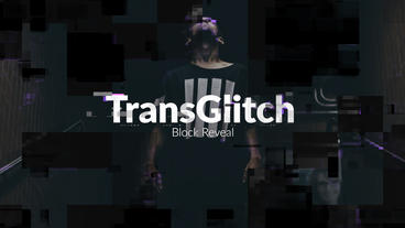 TransGlitch - Block Reveal Premiere Proテンプレート