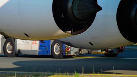 Widebody airplane landing gear Footage