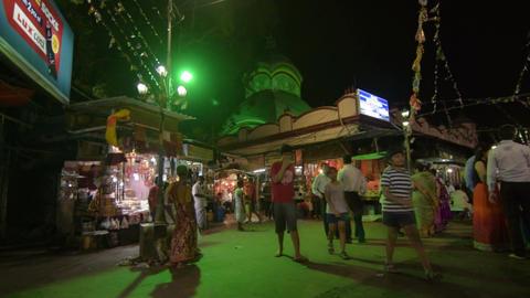 Kalighat temple at night Image