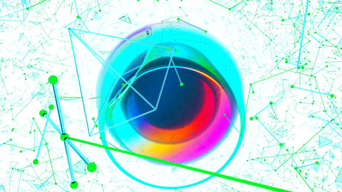 Abstract graphics with fantastic colored spheres Animation